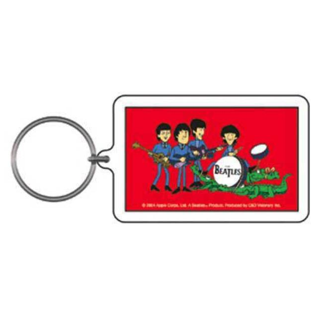 The Beatles Cartoon with Alligators Keychain