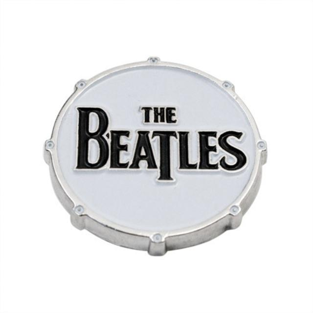 The Beatles Logo Drum Button - Small