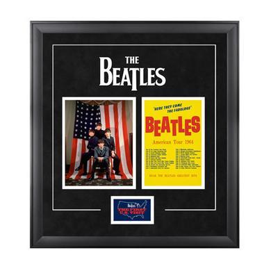 """The Beatles """"1964 U.S. Tour"""" Framed Presentation"""