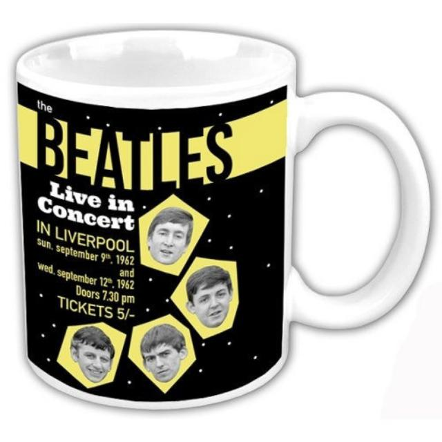 The Beatles 1962 'Live In Concert In Liverpool' Boxed Mug