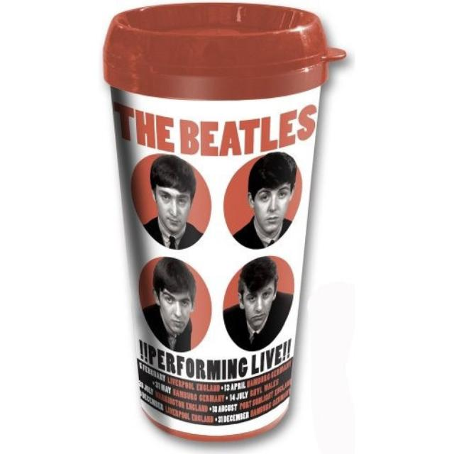 The Beatles 1962 '!Performing Live!' Travel Mug