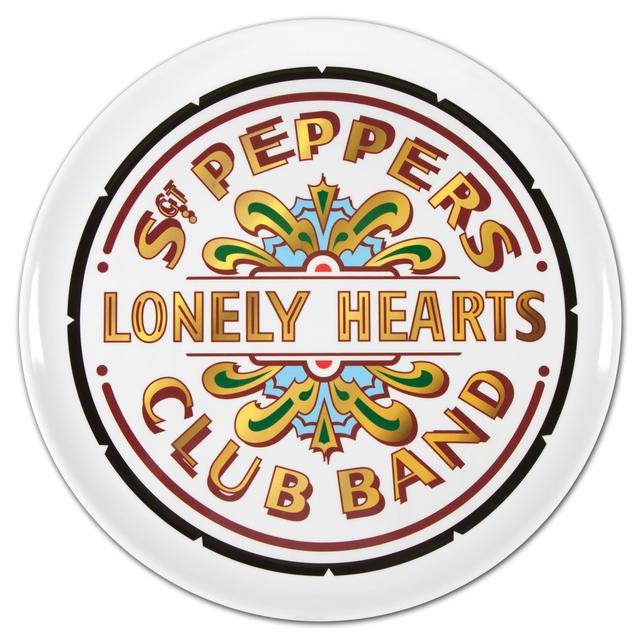 the beatles sgt peppers drum head tray. Black Bedroom Furniture Sets. Home Design Ideas