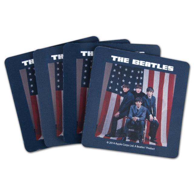 The Beatles U.S. Visit Neoprene Coaster Set
