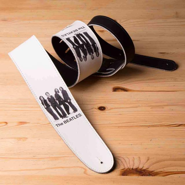 "The Beatles White Album Photo 2.5"" Vinyl Guitar Strap"