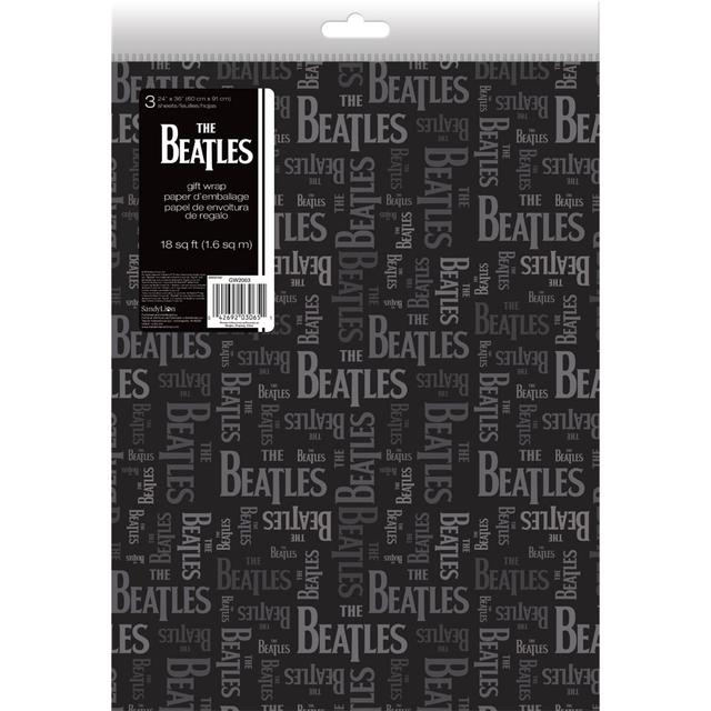 The Beatles Logo Gift Wrap Folded
