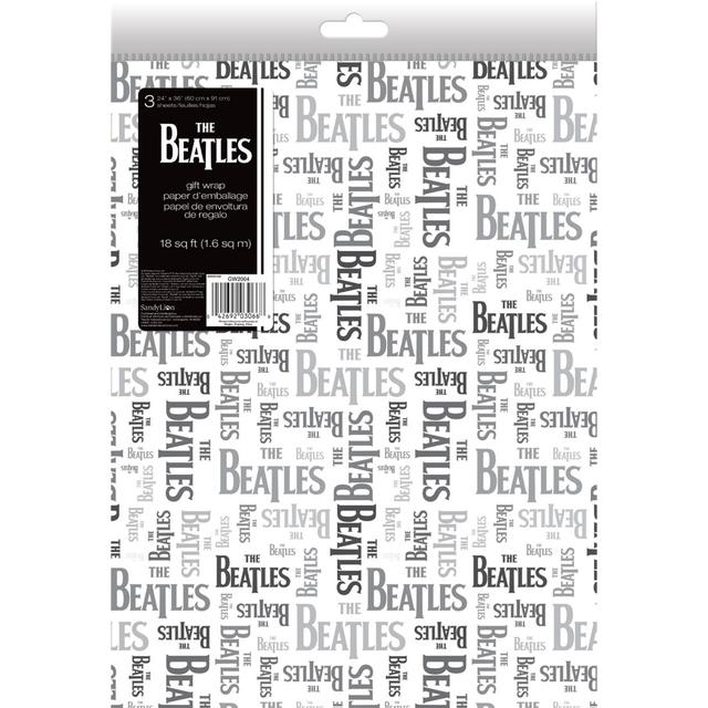 The Beatles Logo Reverse Gift Wrap