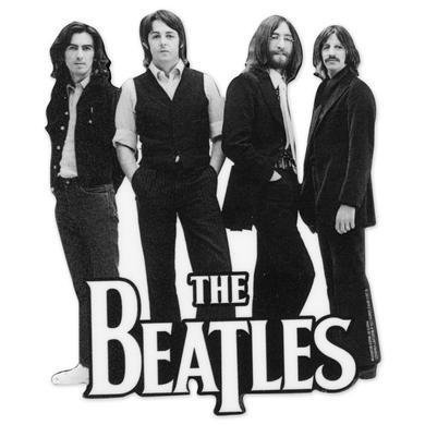 The Beatles B&W Die Cut Wood Magnet