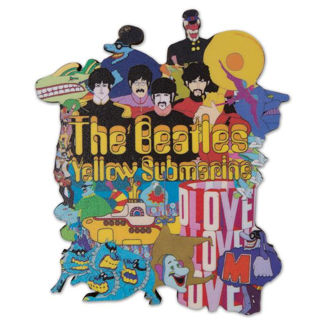 The Beatles Yellow Submarine Die Cut Wood Magnet