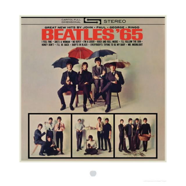 The Beatles '65 Album Cover Lithograph