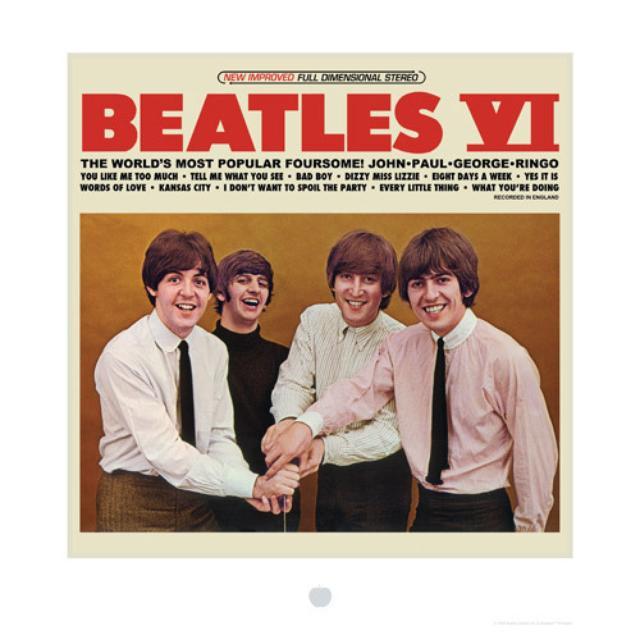 The Beatles VI Album Cover Lithograph