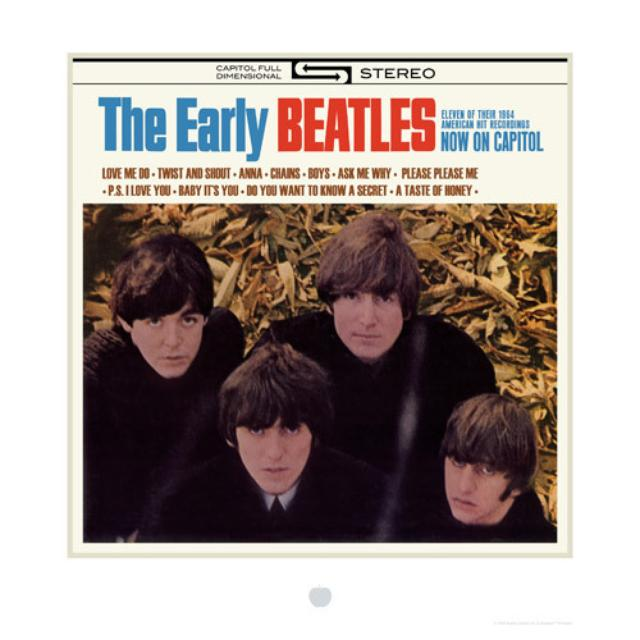 The Early Beatles Album Cover Lithograph