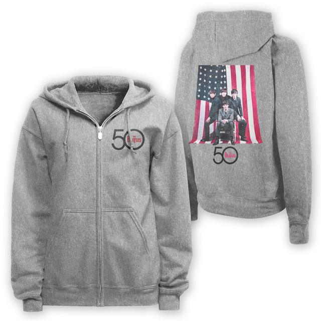 The Beatles American Flag Zip Hoodie