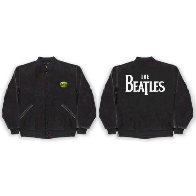 Beatles Drop T Logo Varsity Jacket
