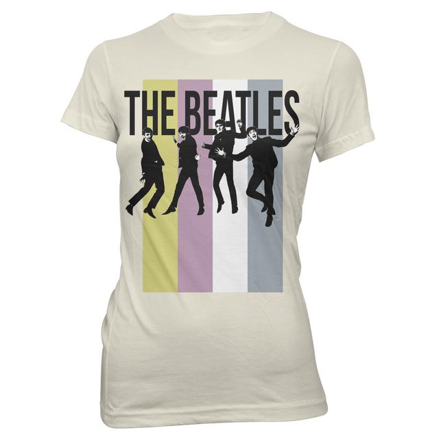 The Beatles Stripes Standing Group Junior T-Shirt