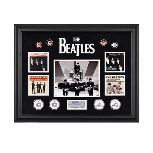 The Beatles On The Ed Sullivan Show Framed