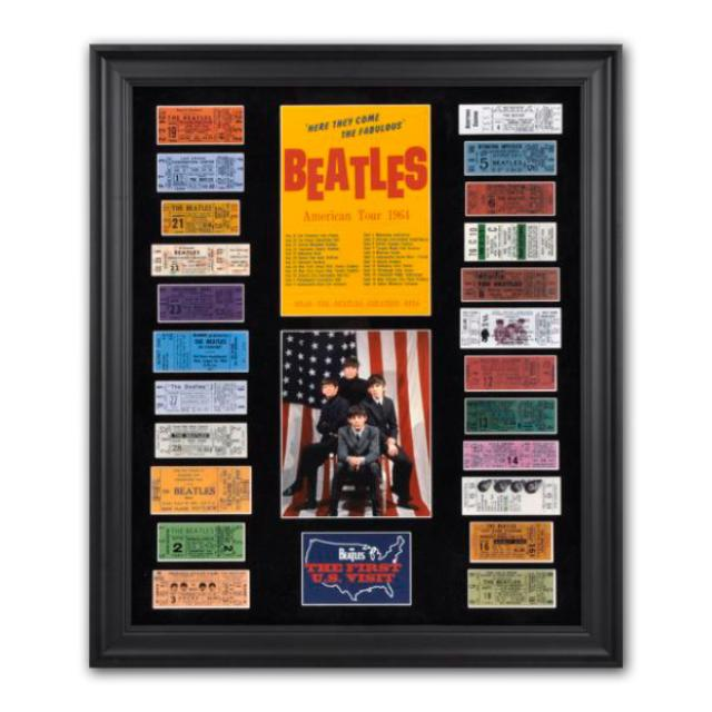 The Beatles 1964 U.S. Tour Framed Presentation with 23 Replica Concert Tickets