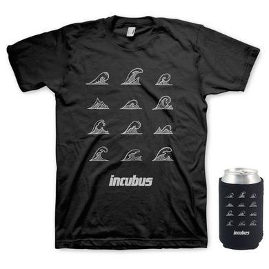 Incubus Waves T-Shirt & Koozie Bundle