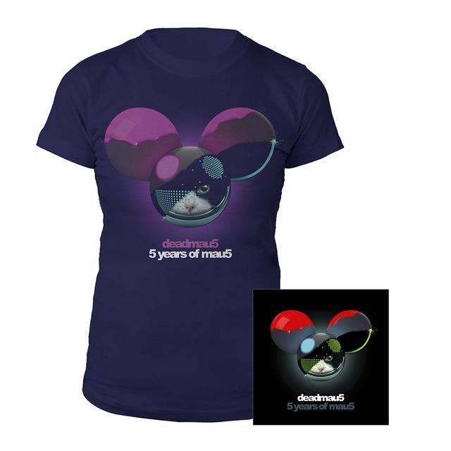 deadmau5 5 years of mau5 Junior Tee + CD Bundle