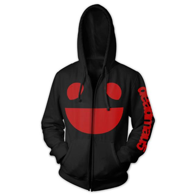 deadmau5 Black and Red Logo Zip Hoodie