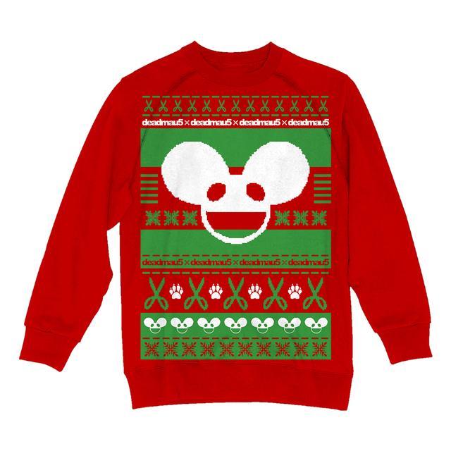 Deadmau5 Red/Green/White Ugly Sweatshirt