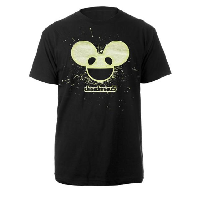 deadmau5 Splatter Logo Glow In The Dark Tee