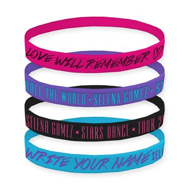 Selena Gomez Stars Dance Lyric Wristbands