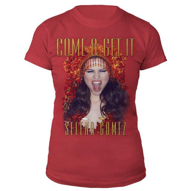 Selena Gomez Come & Get It Cover Art Junior Tee