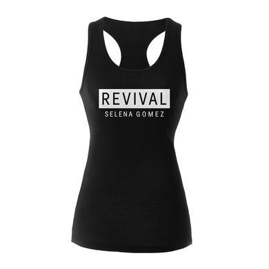 Selena Gomez Revival Black Racerback Girl's Tank