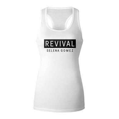 Selena Gomez Revival White Racerback Girl's Tank