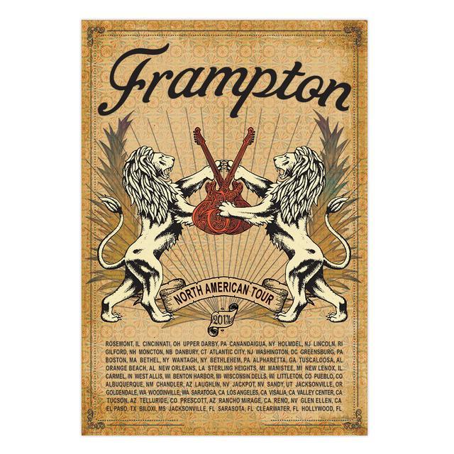 Peter Frampton N. American Tour Poster