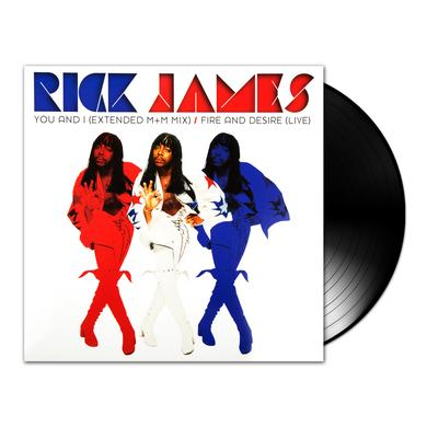 """Rick James 12"""" Vinyl (Side 1 - Fire and Desire, side 2 You and I)"""
