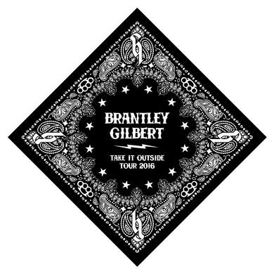 Brantley Gilbert Take it Outside Tour Bandana