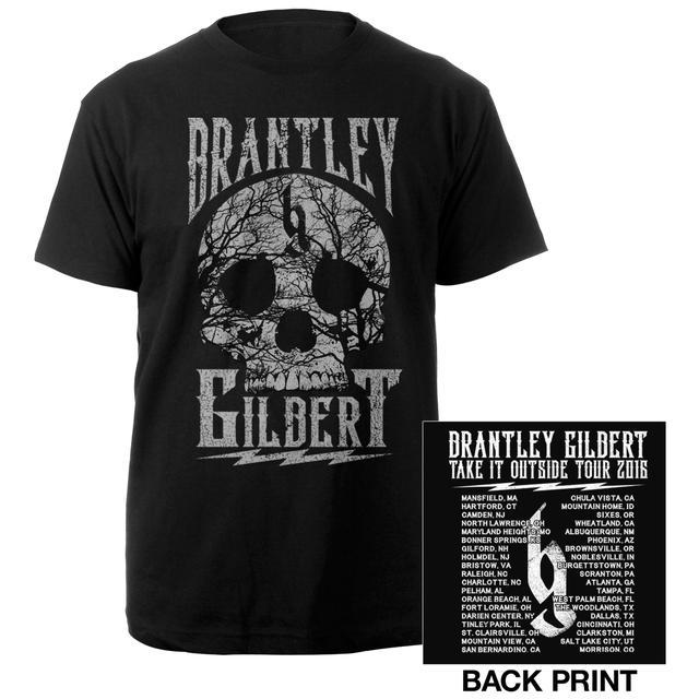 Brantley Gilbert Take it Outside Skull Tee