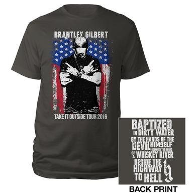 Brantley Gilbert Crossed Arms Take it Outside Tour 2016 Tee