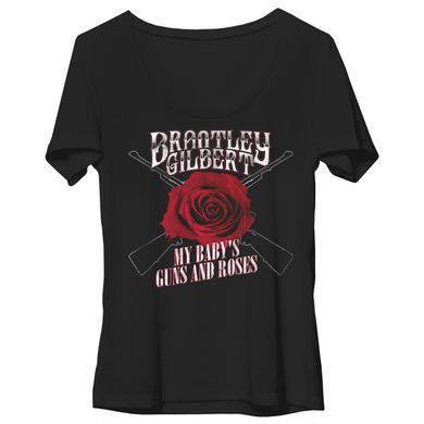 Brantley Gilbert My Baby's Guns and Roses Ladies Dolman