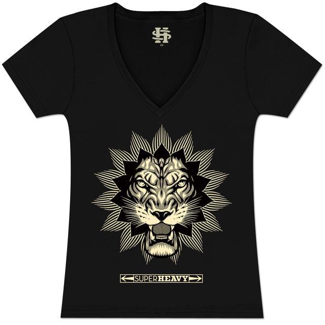 SuperHeavy Juniors V-Neck Lion T-Shirt