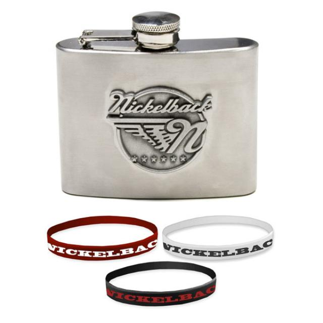 Nickelback Flask and Wristbands