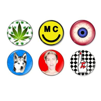 Miley Cyrus Miley Icon Button Pack (6)