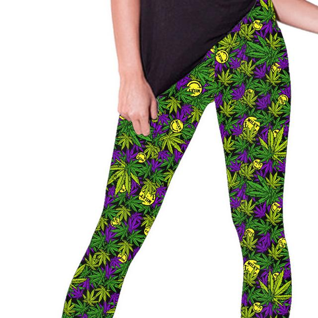Miley Cyrus Happy Leaf Leggings