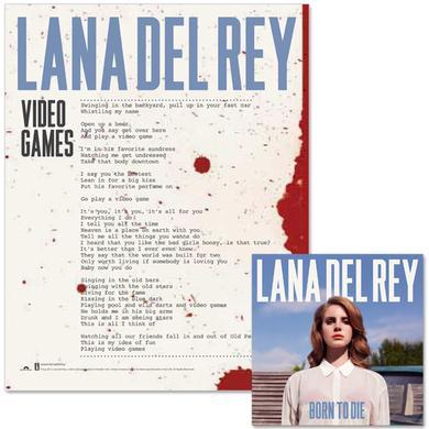 Lana Del Rey Born To Die CD/Litho Bundle