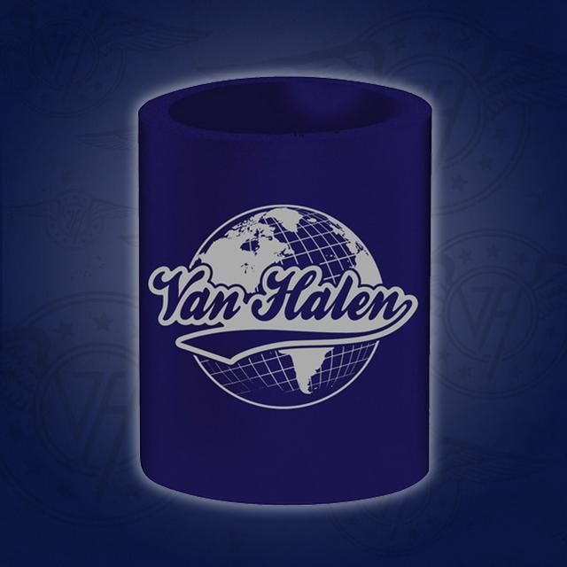 Van Halen Globe Can Coozie Navy