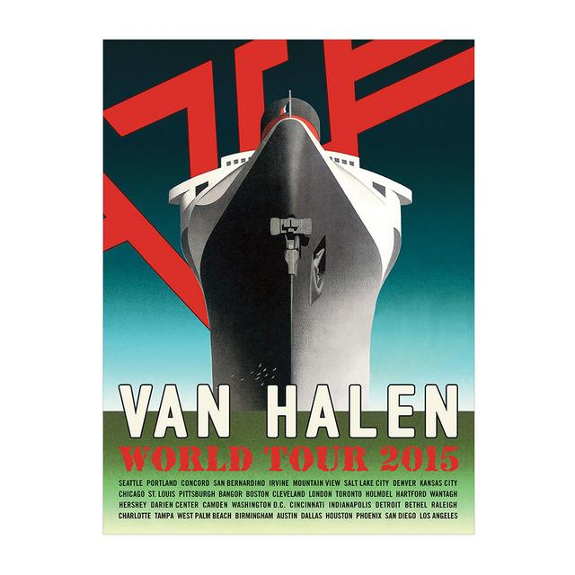 Van Halen World Tour Ship Poster