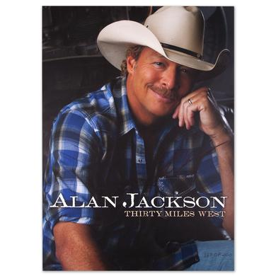 Alan Jackson Autographed Webstore Exclusive Litho