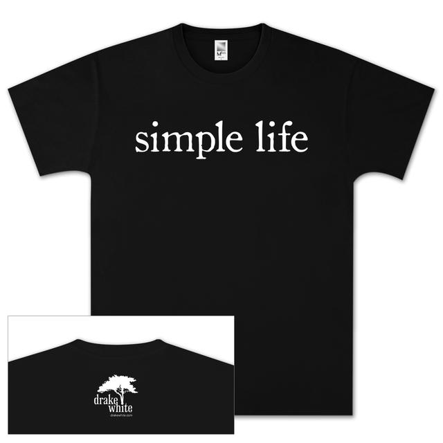 Drake White Simple Life Black T-Shirt