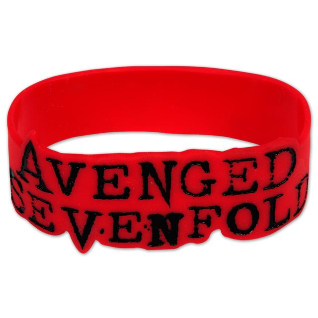 Avenged Sevenfold Avenged Sevenford Red Logo Rubber Bracelet