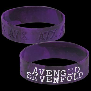 Avenged Sevenfold Purple Logo Rubber Wristband