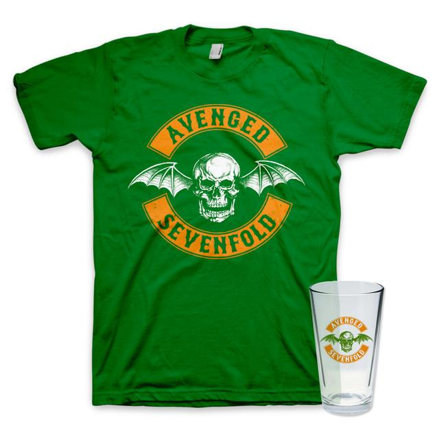 Avenged Sevenfold St. Paddy's Day T-Shirt + Pint Glass Bundle