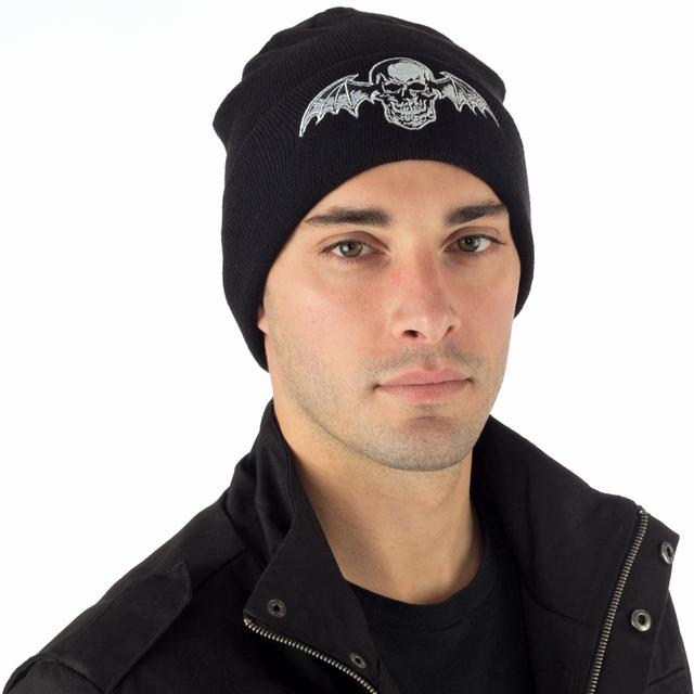 Avenged Sevenfold Logo Label Deathbat Beanie