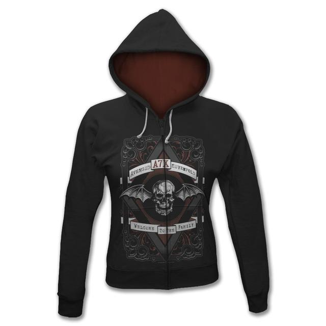 Avenged Sevenfold Diamond Junior Zip-Up Hoodie