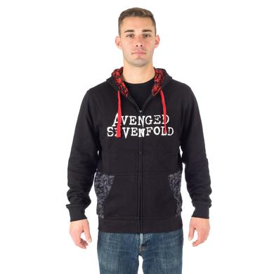 Avenged Sevenfold Death All Over Zip Hoodie